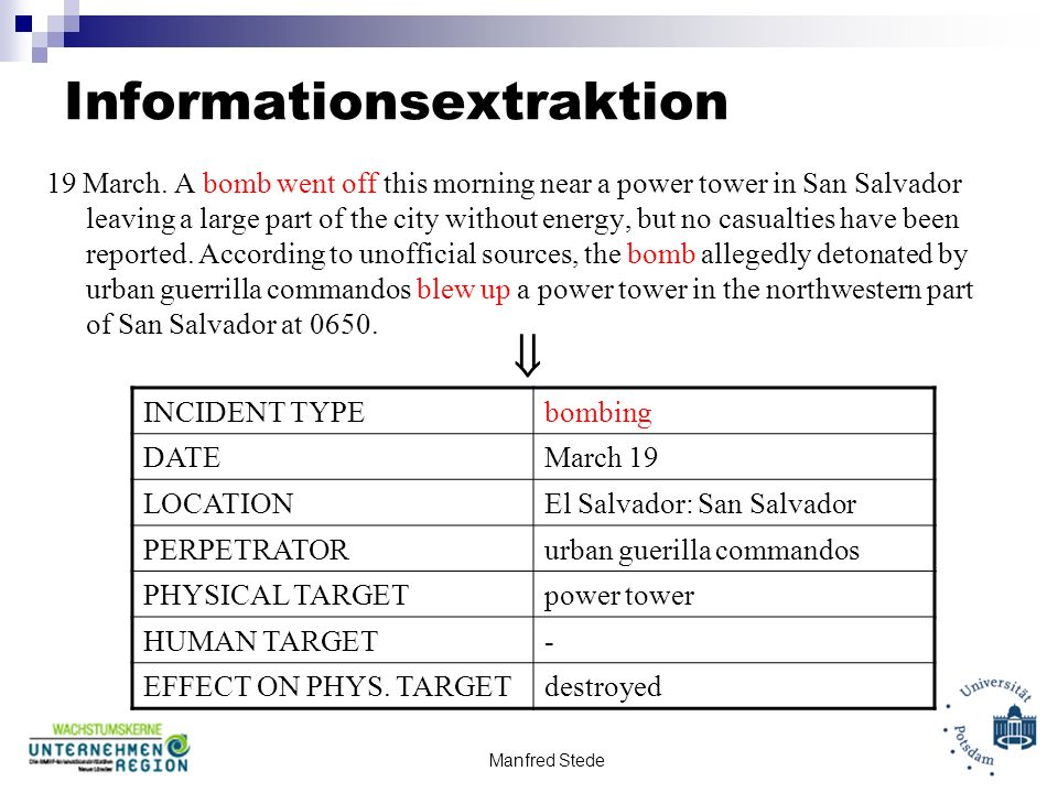 Informationsextraktion