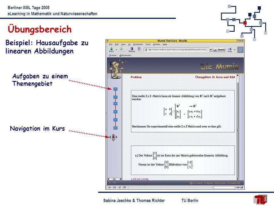 Übungsbereich Beispiel: Hausaufgabe zu linearen Abbildungen