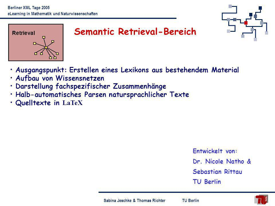 Semantic Retrieval-Bereich