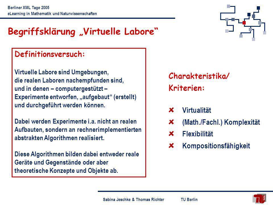 """Begriffsklärung """"Virtuelle Labore"""