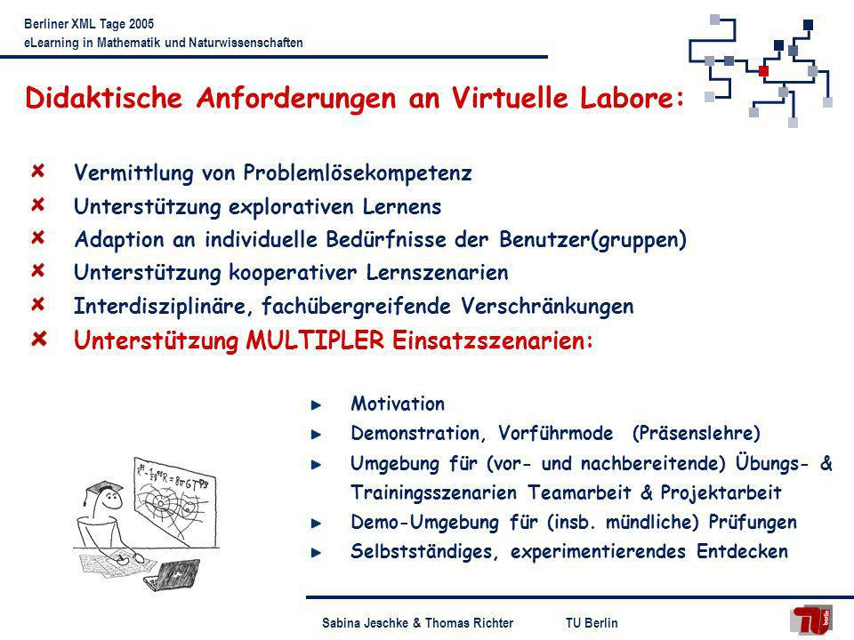 Didaktische Anforderungen an Virtuelle Labore: