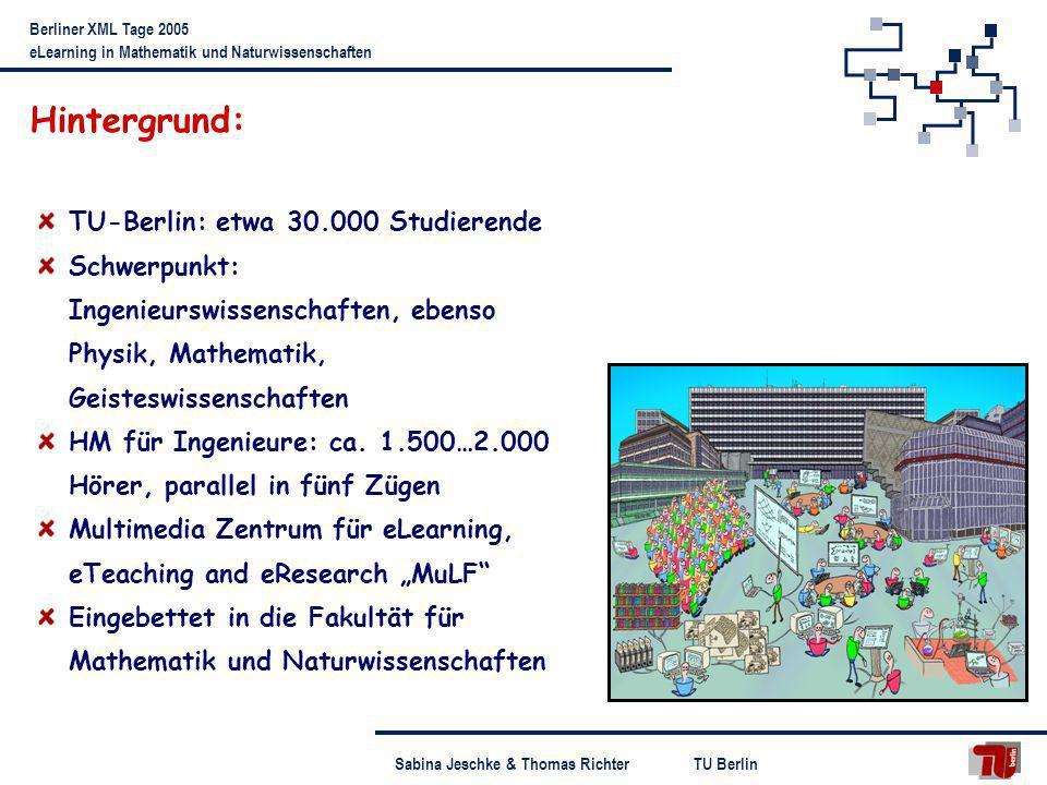 Hintergrund: TU-Berlin: etwa 30.000 Studierende