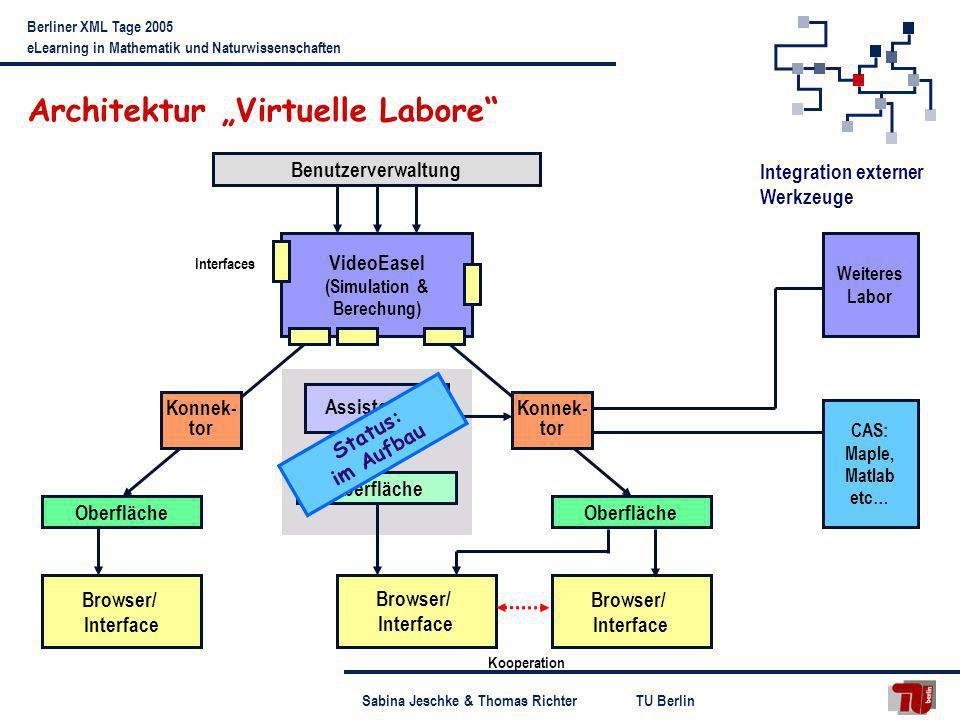 "Architektur ""Virtuelle Labore"