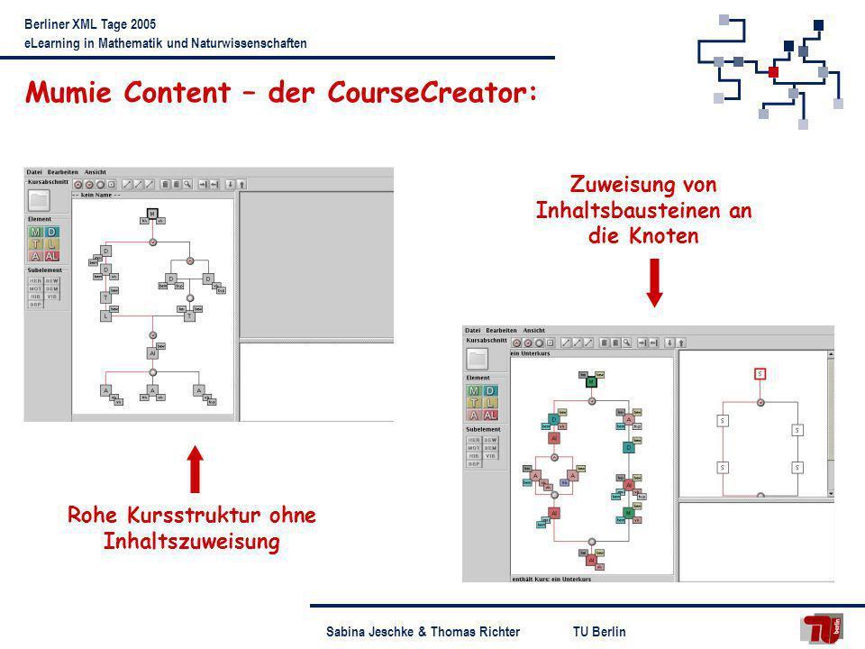 Mumie Content – der CourseCreator: