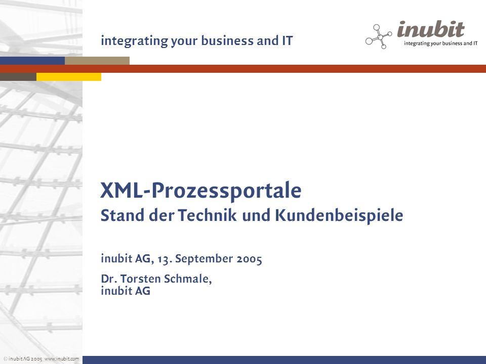 XML-Prozessportale Stand der Technik und Kundenbeispiele