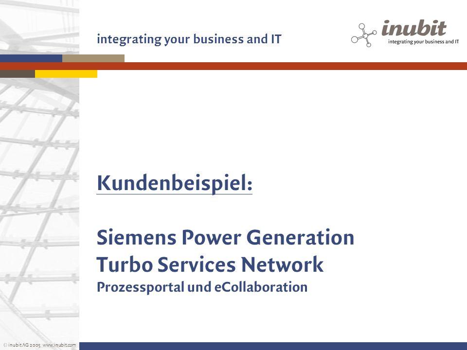 Kundenbeispiel: Siemens Power Generation Turbo Services Network Prozessportal und eCollaboration