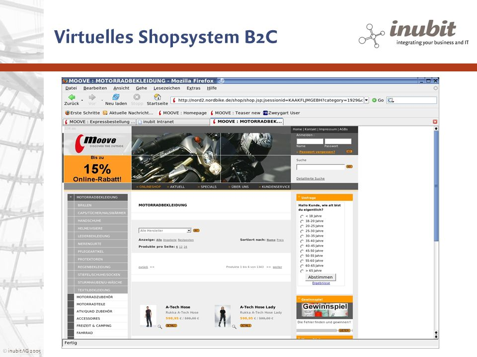 Virtuelles Shopsystem B2C