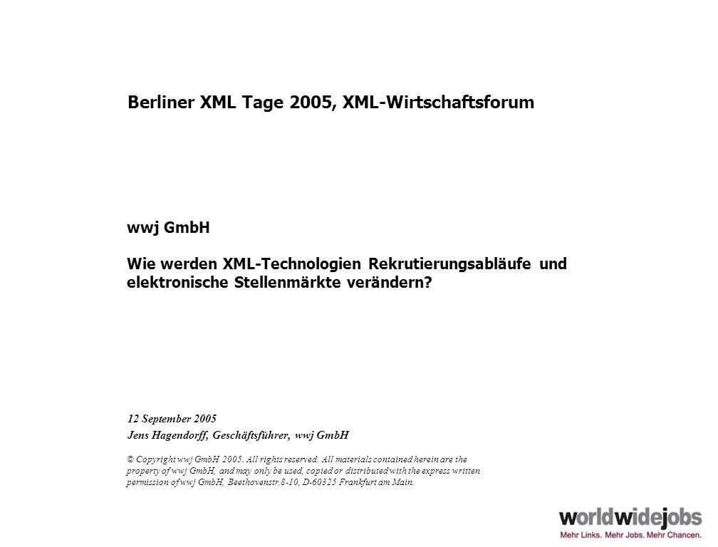 12 September 2005 Jens Hagendorff, Geschäftsführer, wwj GmbH