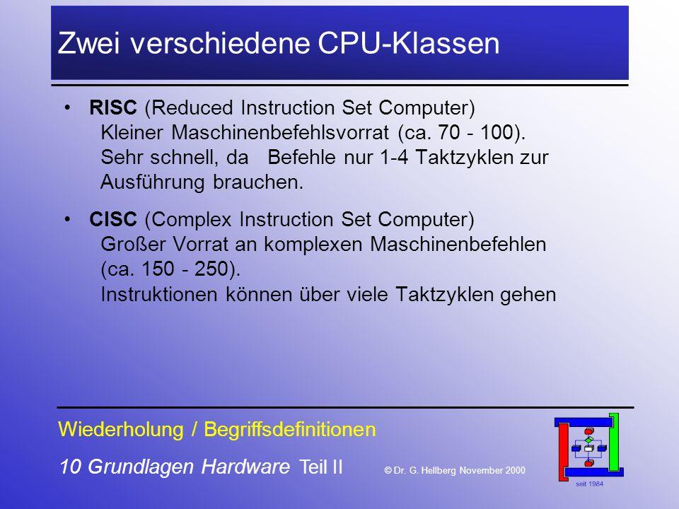 Zwei verschiedene CPU-Klassen