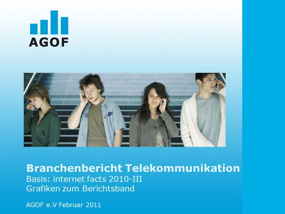 Branchenbericht Telekommunikation Basis: internet facts 2010-III Grafiken zum Berichtsband