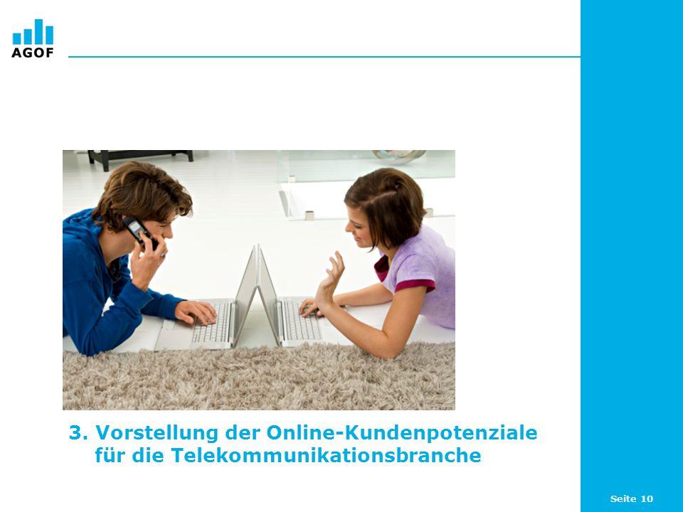 3. Vorstellung der Online-Kundenpotenziale für die Telekommunikationsbranche