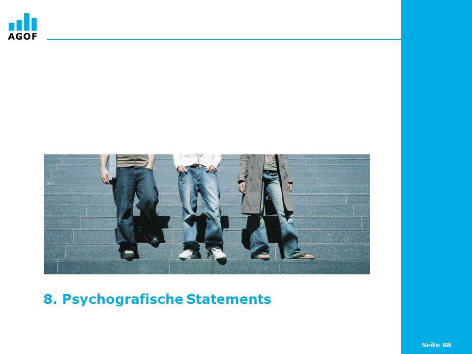 8. Psychografische Statements