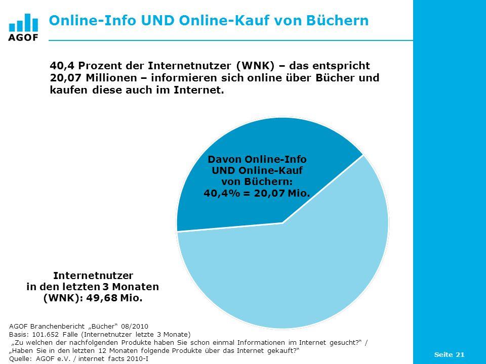 Online-Info UND Online-Kauf von Büchern
