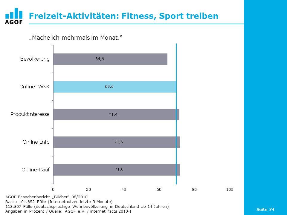 Freizeit-Aktivitäten: Fitness, Sport treiben
