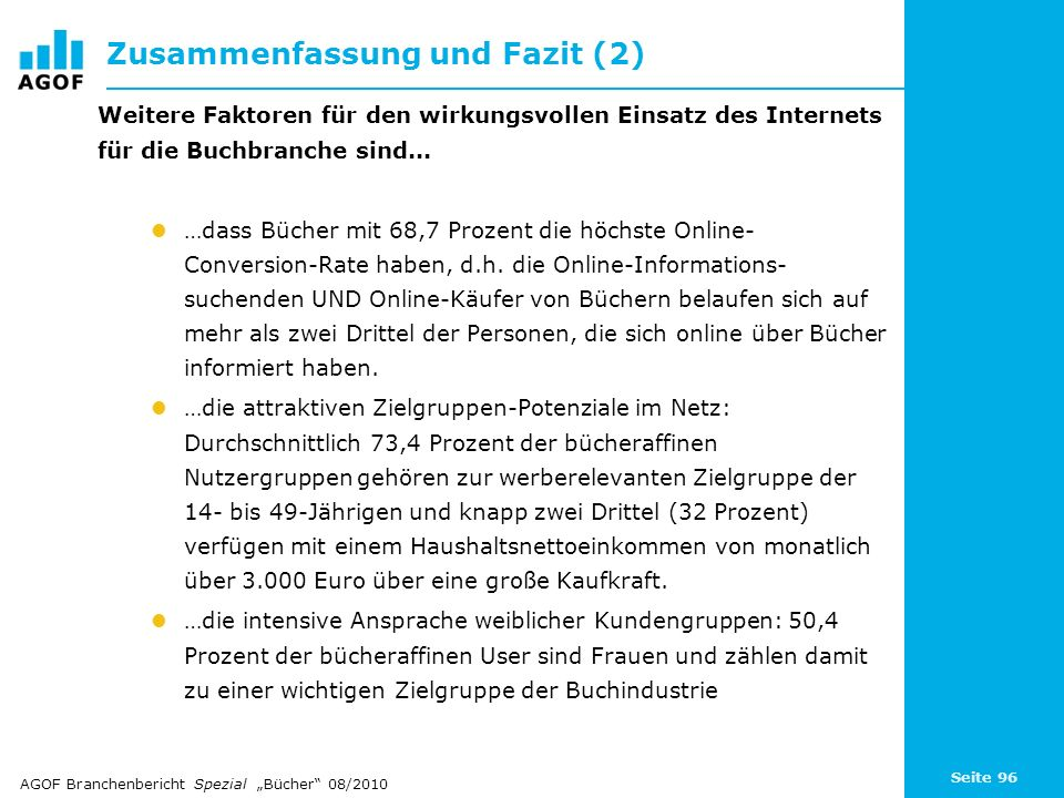 Zusammenfassung und Fazit (2)
