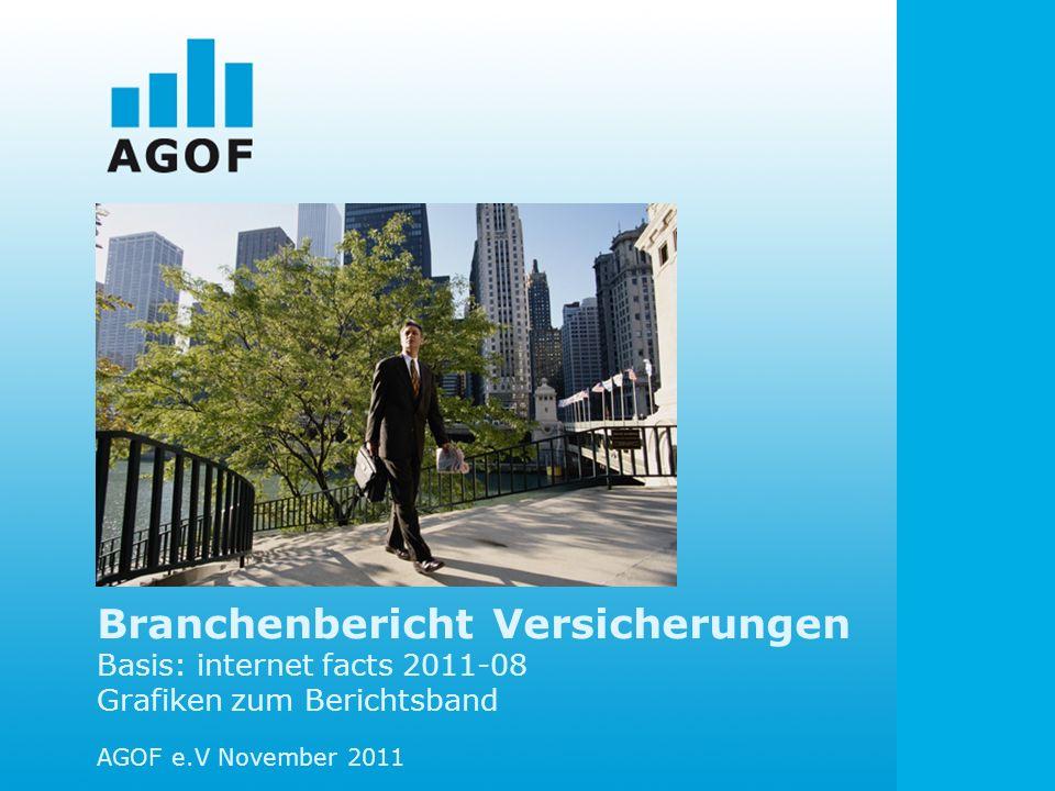 Branchenbericht Versicherungen Basis: internet facts 2011-08 Grafiken zum Berichtsband