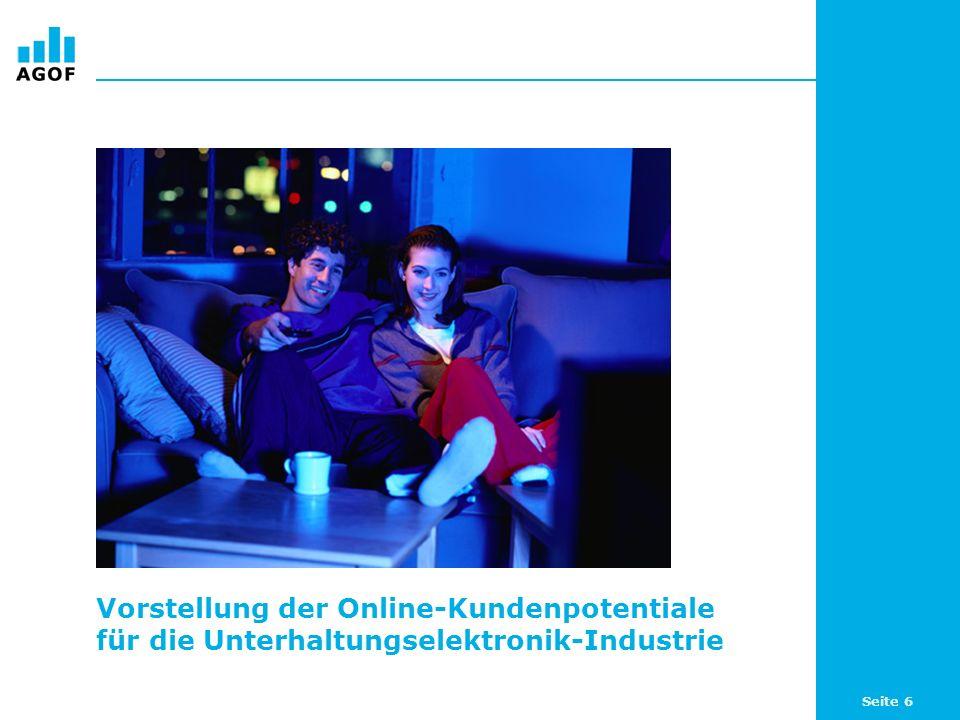 Vorstellung der Online-Kundenpotentiale für die Unterhaltungselektronik-Industrie