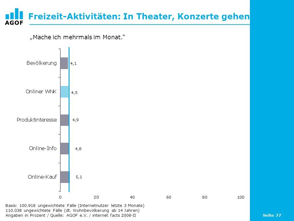 Freizeit-Aktivitäten: In Theater, Konzerte gehen