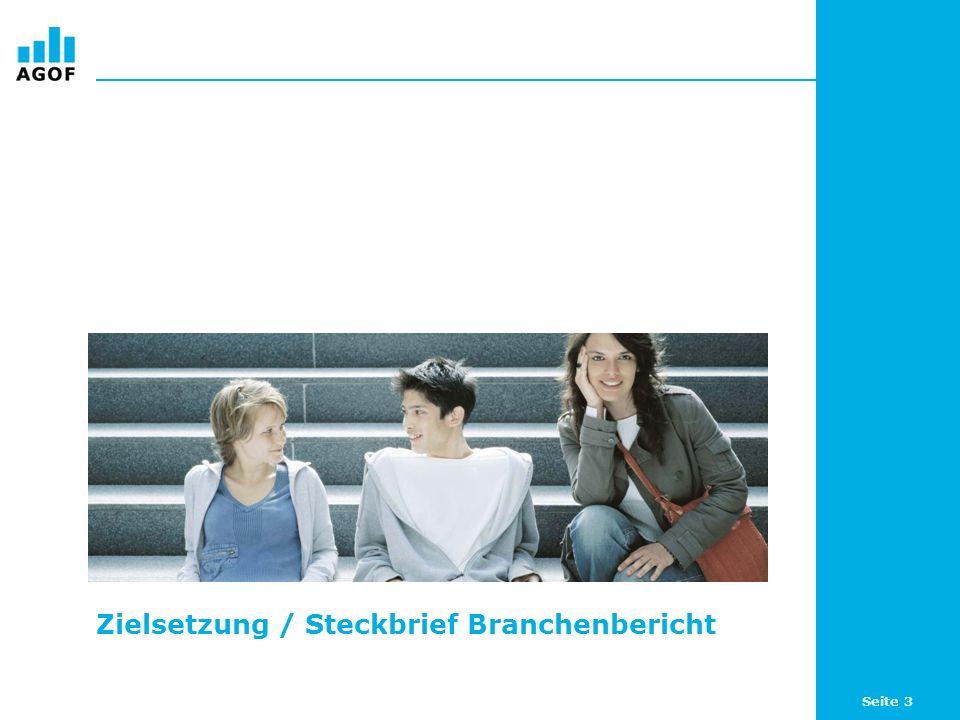 Zielsetzung / Steckbrief Branchenbericht