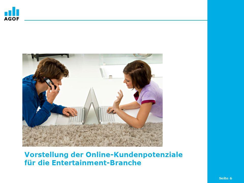 Vorstellung der Online-Kundenpotenziale für die Entertainment-Branche