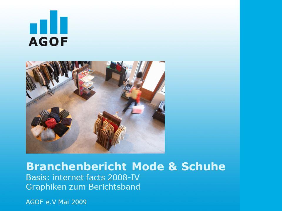 Branchenbericht Mode & Schuhe Basis: internet facts 2008-IV Graphiken zum Berichtsband