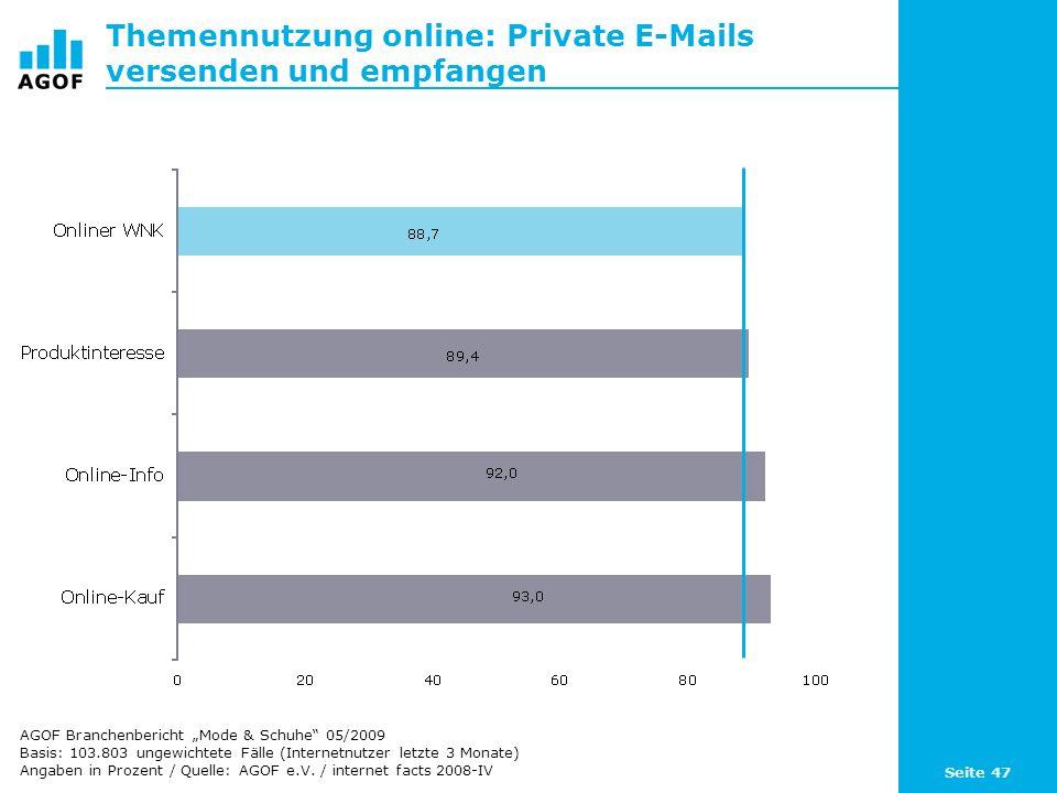 Themennutzung online: Private E-Mails versenden und empfangen