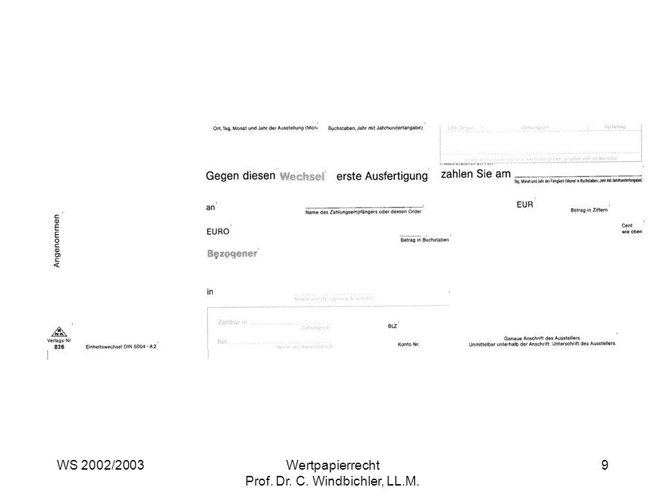 Wertpapierrecht Prof. Dr. C. Windbichler, LL.M.