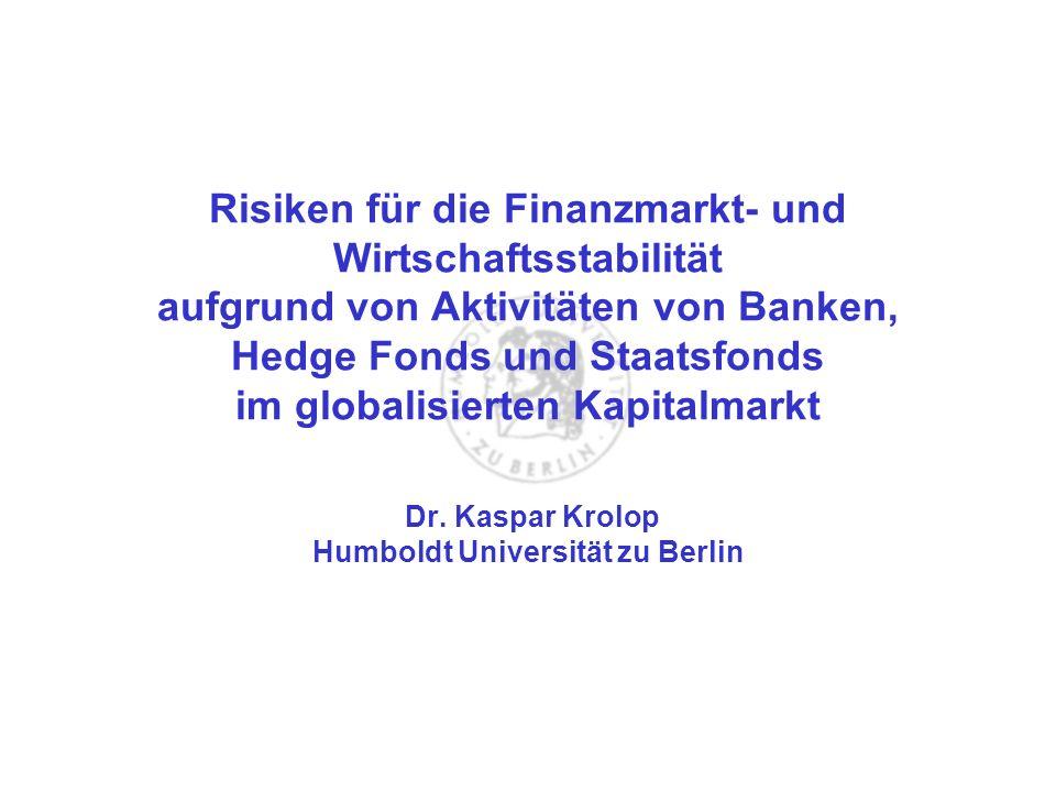 Dr. Kaspar Krolop Humboldt Universität zu Berlin