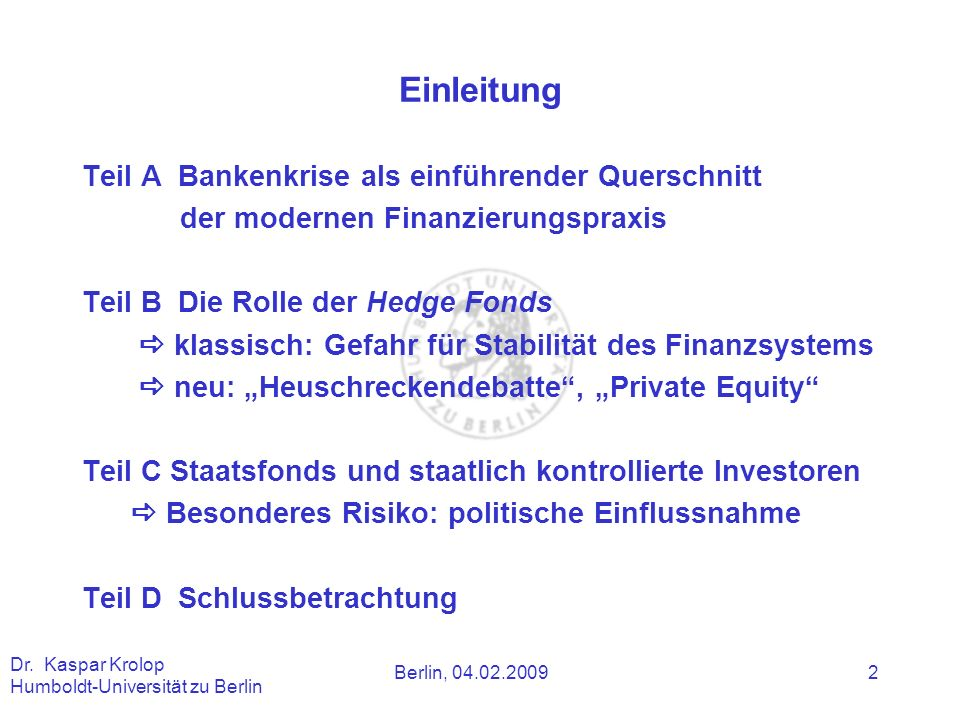 Einleitung Teil A Bankenkrise als einführender Querschnitt