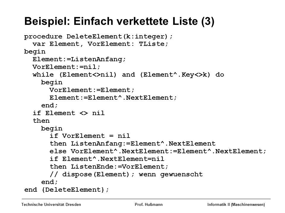 Beispiel: Einfach verkettete Liste (3)