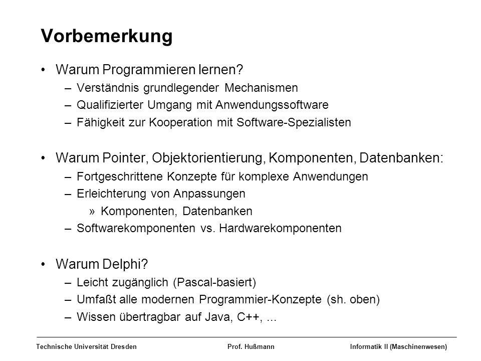 Vorbemerkung Warum Programmieren lernen