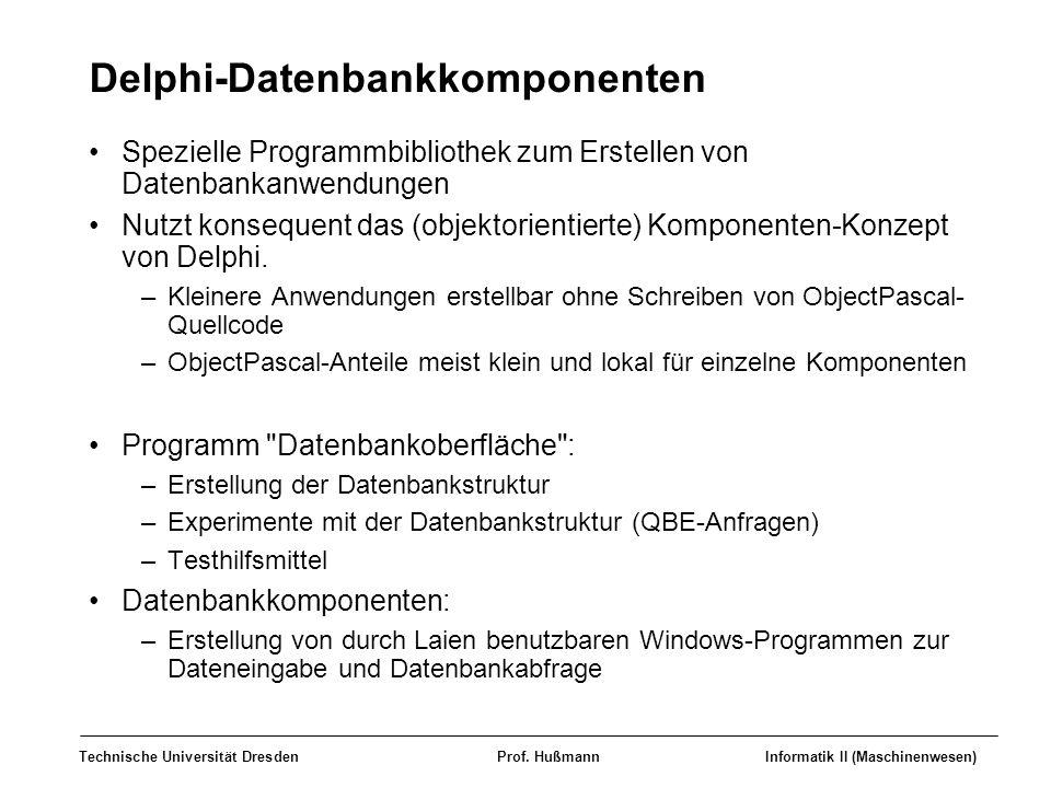 Delphi-Datenbankkomponenten