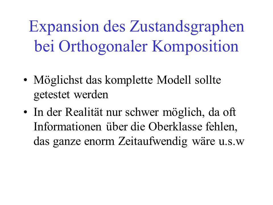 Expansion des Zustandsgraphen bei Orthogonaler Komposition