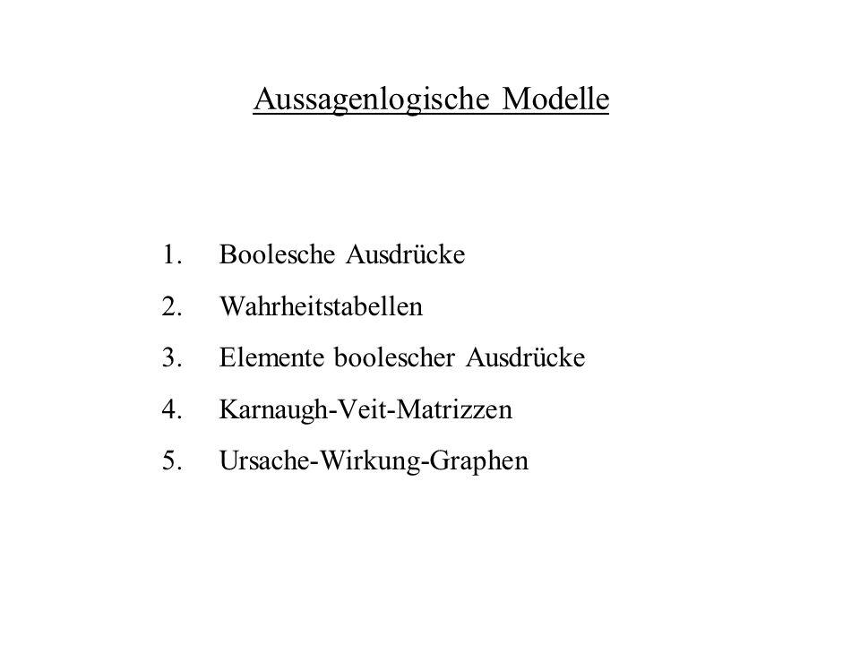 Aussagenlogische Modelle