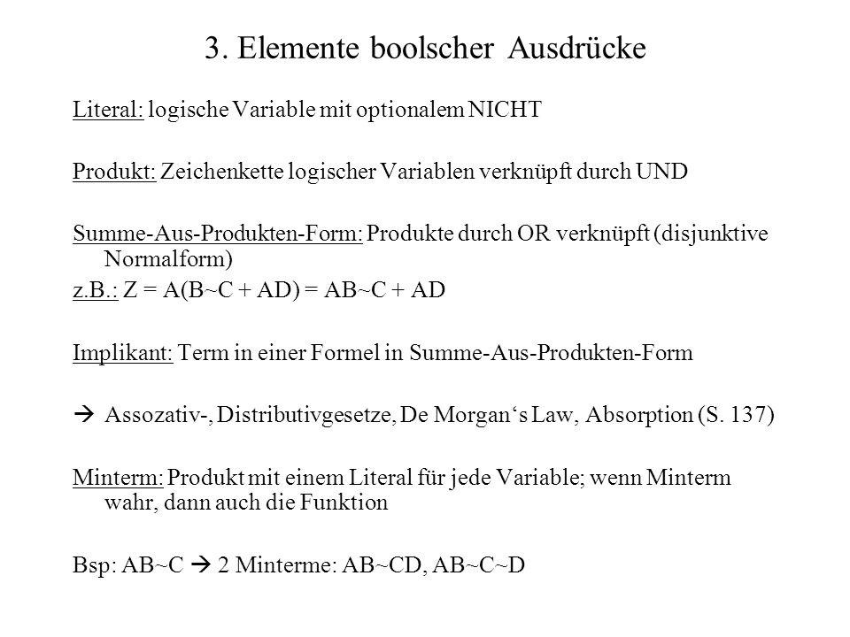 3. Elemente boolscher Ausdrücke