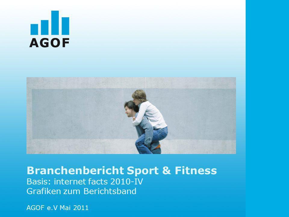 Branchenbericht Sport & Fitness Basis: internet facts 2010-IV Grafiken zum Berichtsband