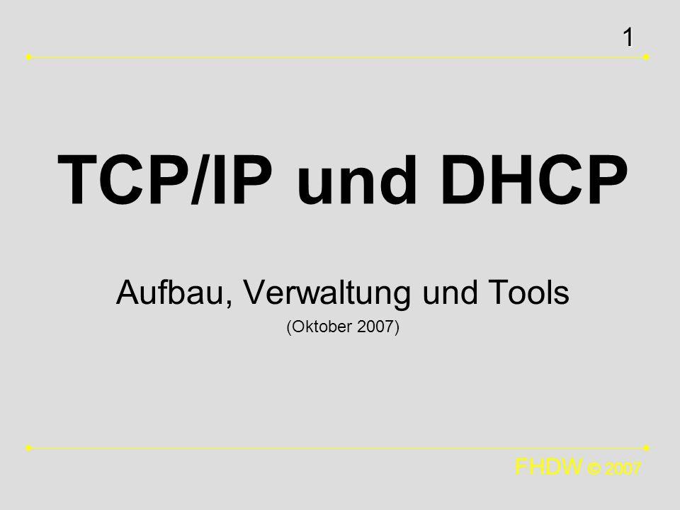 Aufbau, Verwaltung und Tools (Oktober 2007)