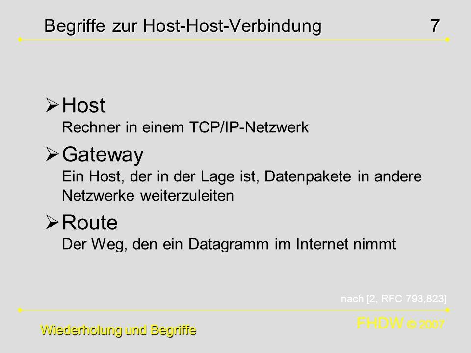 Begriffe zur Host-Host-Verbindung