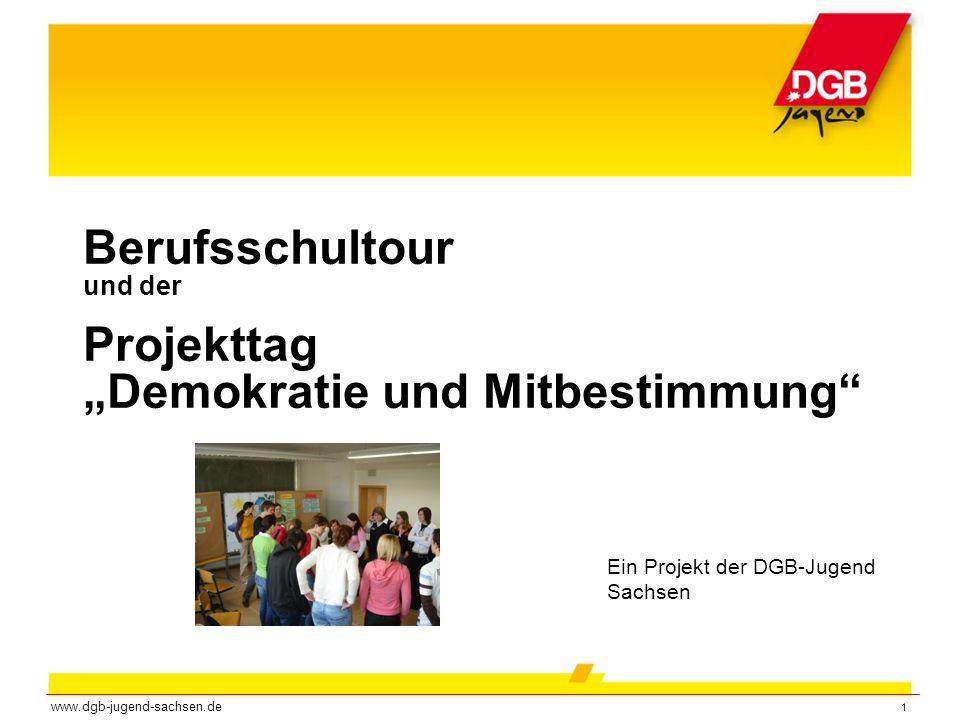 """Berufsschultour und der Projekttag """"Demokratie und Mitbestimmung"""