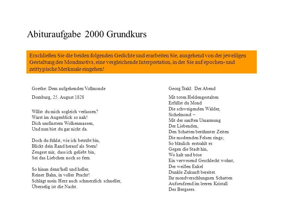 Abituraufgabe 2000 Grundkurs