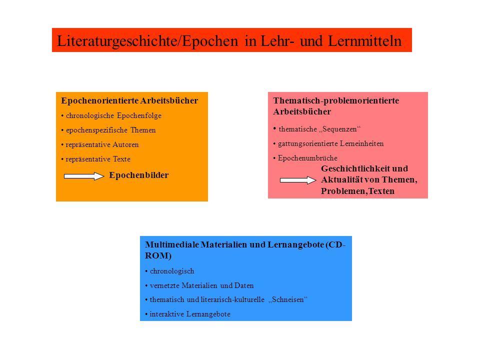 Literaturgeschichte/Epochen in Lehr- und Lernmitteln