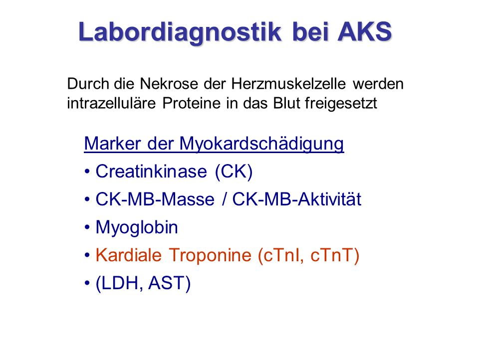 Labordiagnostik bei AKS