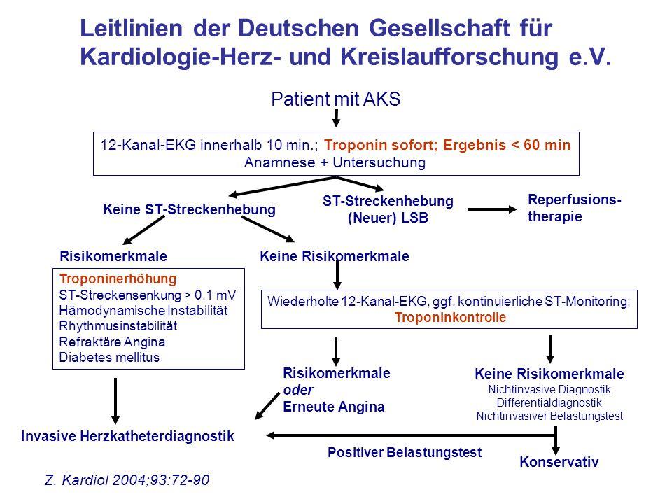 Leitlinien der Deutschen Gesellschaft für Kardiologie-Herz- und Kreislaufforschung e.V.