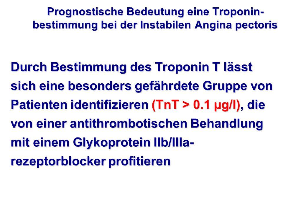 Prognostische Bedeutung eine Troponin-bestimmung bei der Instabilen Angina pectoris