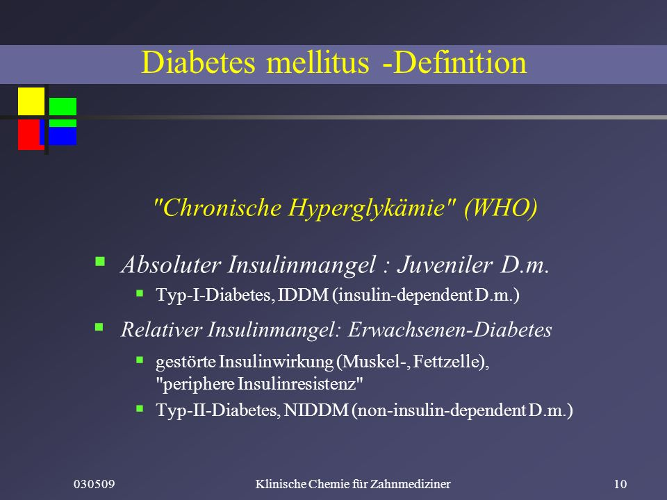 Diabetes mellitus -Definition