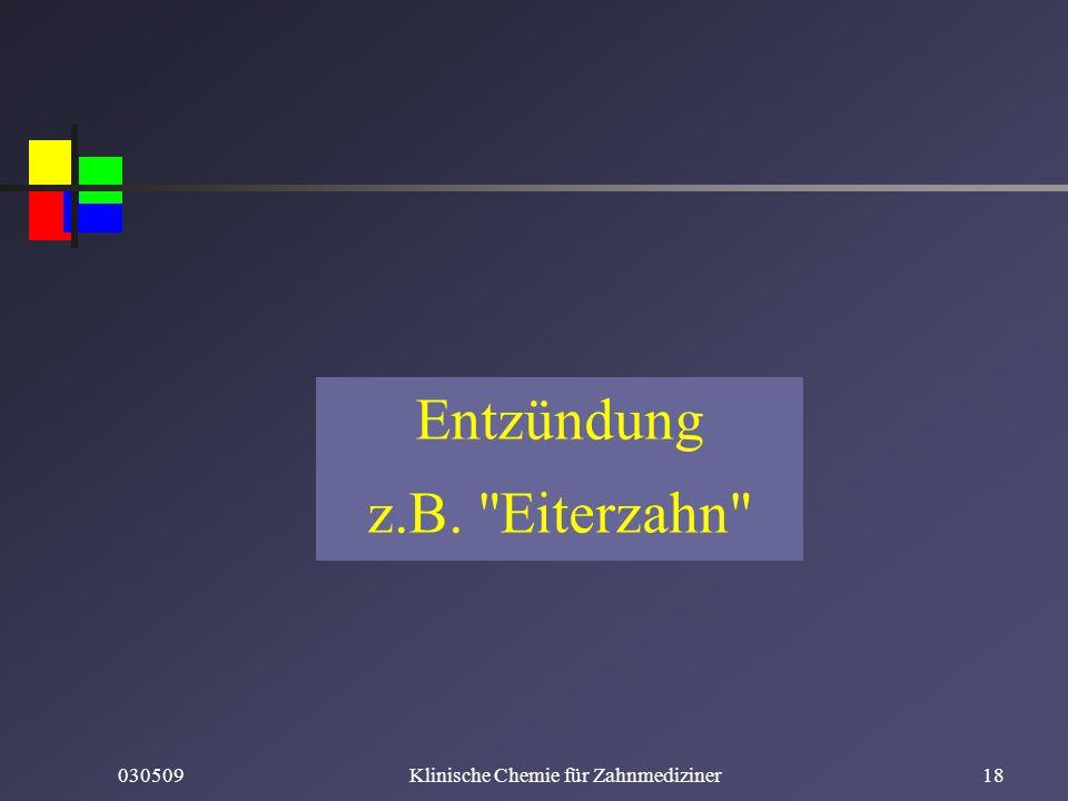 Entzündung z.B. Eiterzahn