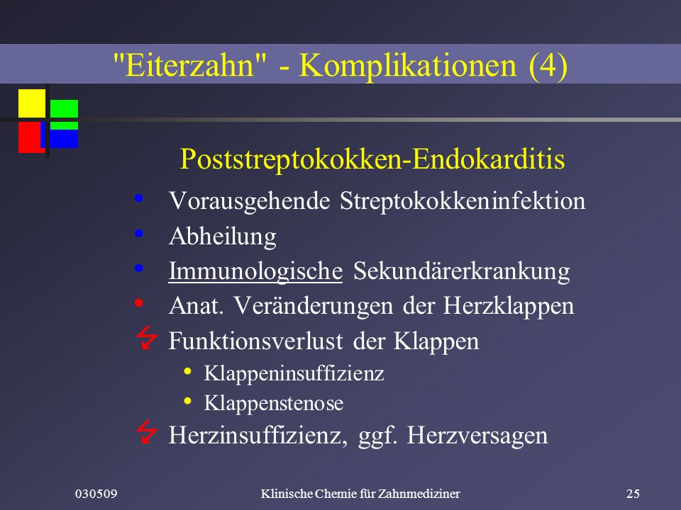 Eiterzahn - Komplikationen (4)