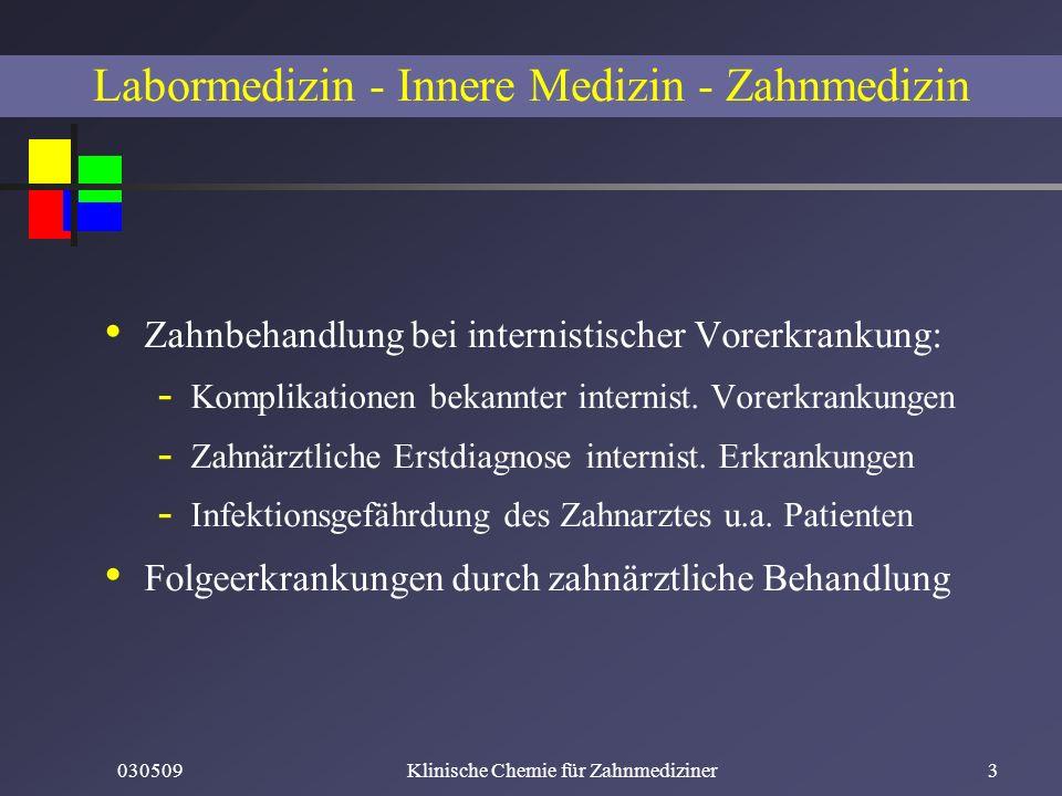 Labormedizin - Innere Medizin - Zahnmedizin