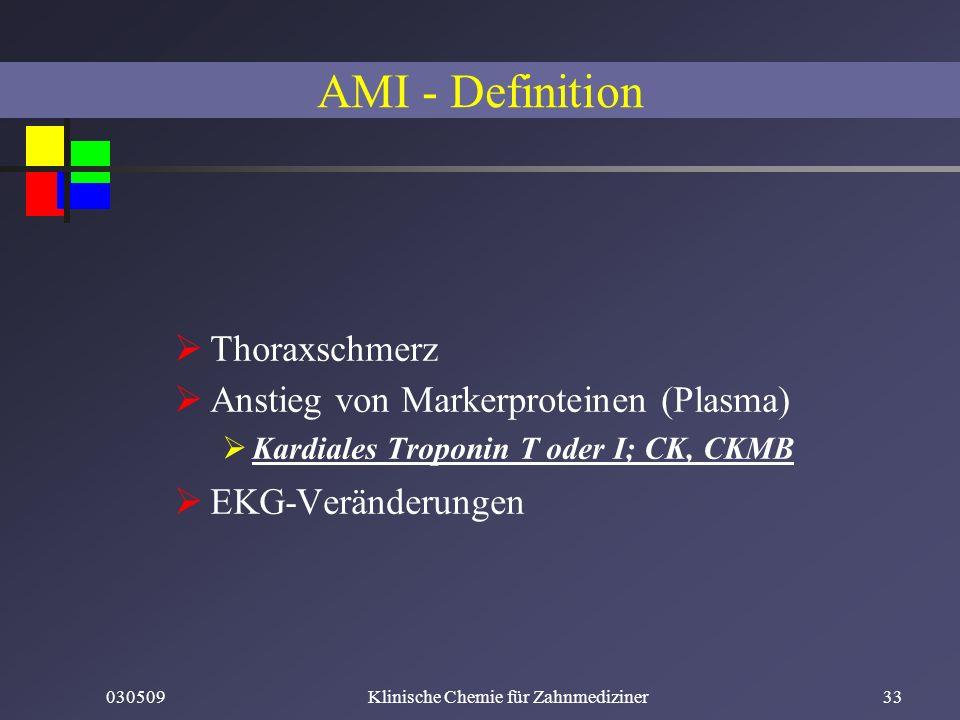 Klinische Chemie für Zahnmediziner
