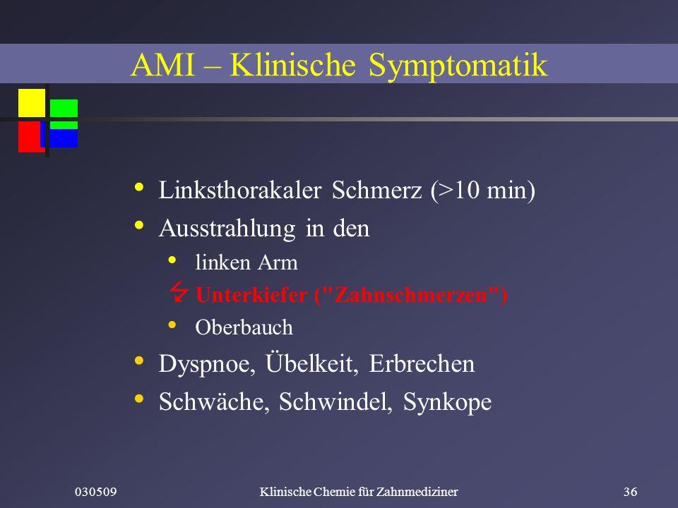 AMI – Klinische Symptomatik
